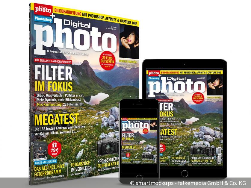 NEU: DigitalPHOTO 07/2020 - So setzen Sie Filter richtig ein & Fotoabzüge im Test | DigitalPHOTO