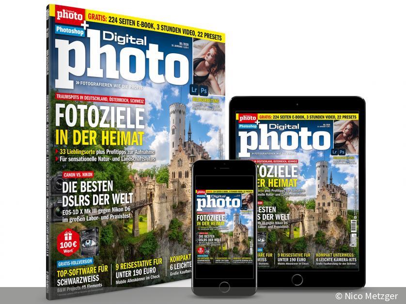 NEU: DigitalPHOTO 08/2020 - Die schönsten Fotospots in der D-A-CH-Region & Canon vs. Nikon | DigitalPHOTO