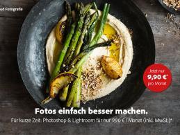 Fotos zum Anbeißen – mit Photoshop und Lightroom zum Sonderpreis