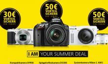 Nikon Summerdeal: Von Juni bis August 30 bzw. 50 Euro Vorteil sichern