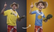 Witzige Porträtmontage in Photoshop: Mr. Holiday