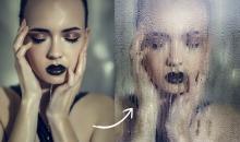 Porträt-Effekt in Photoshop: Nasse Scheibe