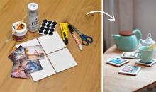 Do-it-yourself: Untersetzer mit Fotos verzieren