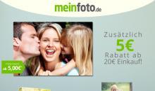 Deal bei meinfoto.de: Ab 20 Euro zusätzlich 5 Euro Rabatt!