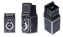Retro Sofortbildkamera von Rollei mit Doppellinse