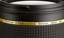 Neues HD Pentax-D FA* 50mm F1,4 SDM AW vorgestellt